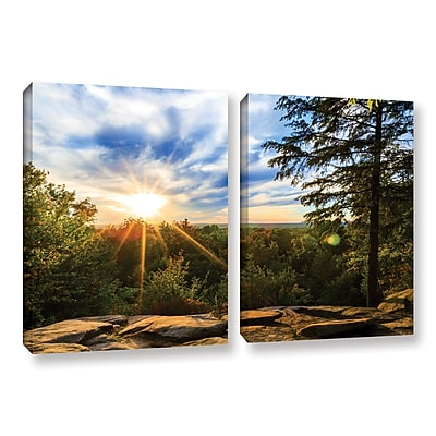 ArtWall 'Virginia Kendall 2' 2-Piece Gallery-Wrapped Canvas Set 32