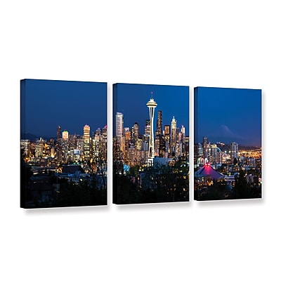 ArtWall 'Seattle 3' 3-Piece Gallery-Wrapped Canvas Set 24