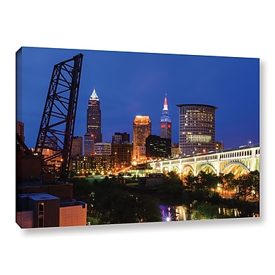 ArtWall 'Cleveland 21' Gallery-Wrapped Canvas 12