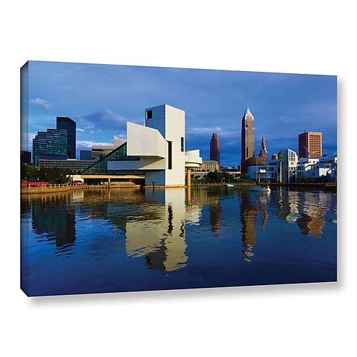 """ArtWall 'Cleveland 2' Gallery-Wrapped Canvas 24"""" x 36"""" (0yor015a2436w)"""