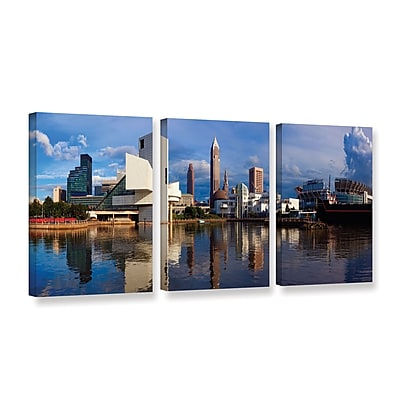 "ArtWall 'Cleveland 20' 3-Piece Gallery-Wrapped Canvas Set 36"" x 72"" (0yor033c3672w)"