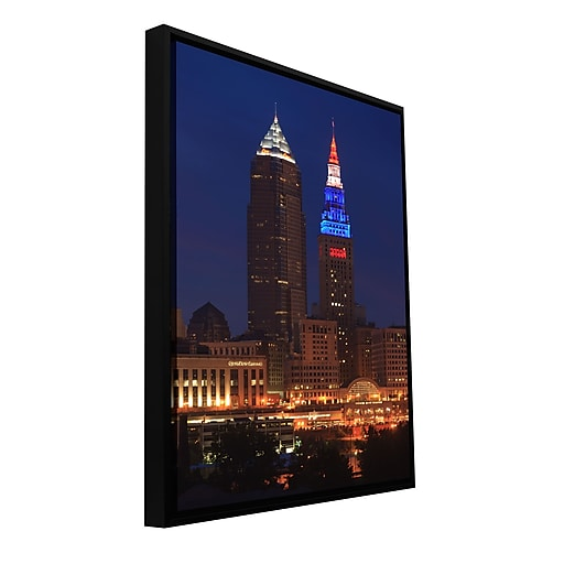"ArtWall 'Cleveland 4' Gallery-Wrapped Canvas 12"" x 18"" Floater-Framed (0yor017a1218f)"
