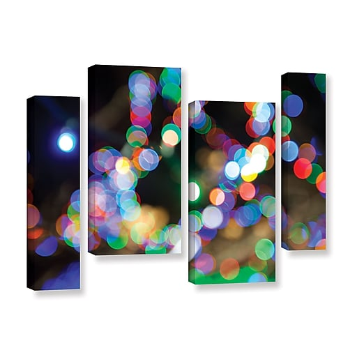 "ArtWall 'Bokeh 2' 4-Piece Gallery-Wrapped Canvas Staggered Set 24"" x 36"" (0yor006i2436w)"