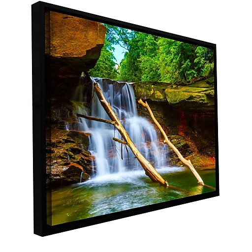 "ArtWall ""Brecksville Falls"" Gallery-Wrapped Canvas 16"" x 24"" Floater-Framed (0yor011a1624f)"