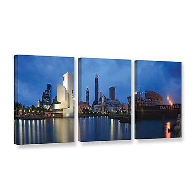 ArtWall 'Cleveland!' 3-Piece Gallery-Wrapped Canvas Set 24