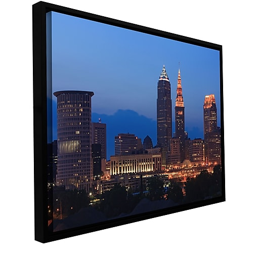 "ArtWall ""Cleveland 17"" Gallery-Wrapped Canvas 32"" x 48"" Floater-Framed (0yor030a3248f)"