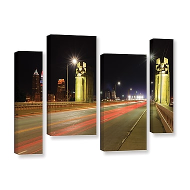ArtWall 'Cleveland 7' 4-Piece Staggered Set 36