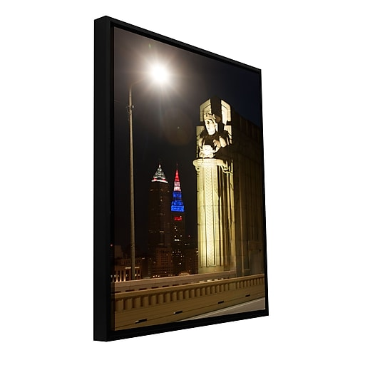 "ArtWall 'Cleveland 6' Gallery-Wrapped Canvas 24"" x 36"" Floater-Framed (0yor019a2436f)"