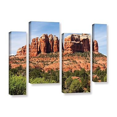 ArtWall 'Sedona 2' 4-Piece Gallery-Wrapped Canvas Staggered Set 24