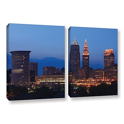 ArtWall 'Cleveland 17' 2-Piece Gallery-Wrapped Canvas Set 18