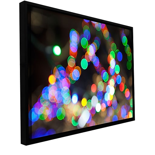 "ArtWall 'Bokeh 1' Gallery-Wrapped Canvas 32"" x 48"" Floater-Framed (0yor005a3248f)"