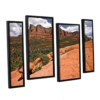 ArtWall 'Sedona' 4-Piece Canvas Staggered Set 24