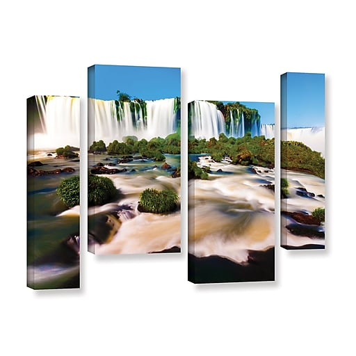 "ArtWall ""Brazil 2"" 4-Piece Gallery-Wrapped Canvas Staggered Set 24"" x 36"" (0yor010i2436w)"