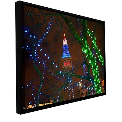 ArtWall 'Terminal Tower' Gallery-Wrapped Floater-Framed Canvas 32