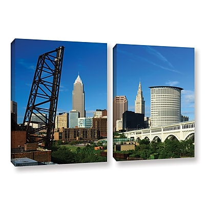ArtWall 'Cleveland 13' 2-Piece Gallery-Wrapped Canvas Set 32