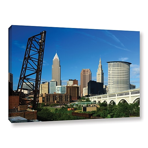 """ArtWall """"Cleveland 13"""" Gallery-Wrapped Canvas 32"""" x 48"""" (0yor026a3248w)"""