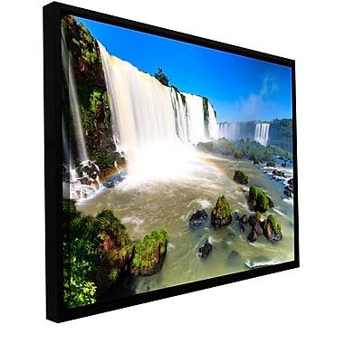 ArtWall 'Iguassu Falls 3' Gallery-Wrapped Canvas 24