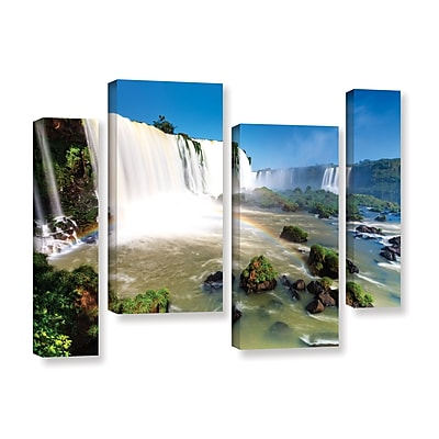 ArtWall 'Iguassu Falls 3' 4-Piece Gallery-Wrapped Canvas Staggered Set 24