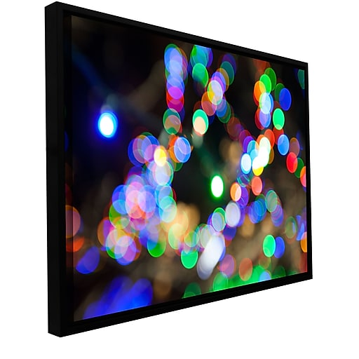 "ArtWall 'Bokeh 2' Gallery-Wrapped Canvas 24"" x 36"" Floater-Framed (0yor006a2436f)"