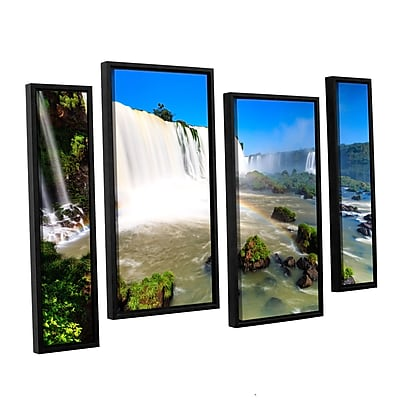 ArtWall 'Iguassu Falls 3' 4-Piece Canvas Staggered Set 24