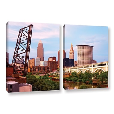 ArtWall 'Cleveland 10' 2-Piece Gallery-Wrapped Canvas Set 32