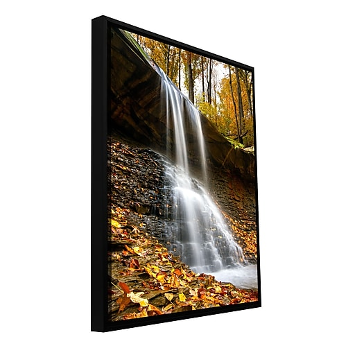 "ArtWall 'Blue Hen Falls 2' Gallery-Wrapped Canvas 12"" x 18"" Floater-Framed (0yor002a1218f)"