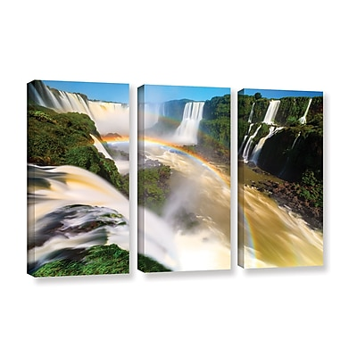 ArtWall 'Iguassu Falls 2' 3-Piece Gallery-Wrapped Canvas Set 36