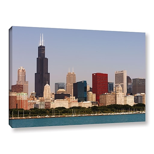 "ArtWall 'Chicago' Gallery-Wrapped Canvas 16"" x 24"" (0yor013a1624w)"