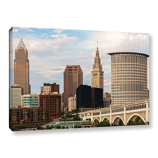 """ArtWall 'Cleveland 9' Gallery-Wrapped Canvas 16"""" x 24"""" (0yor022a1624w)"""