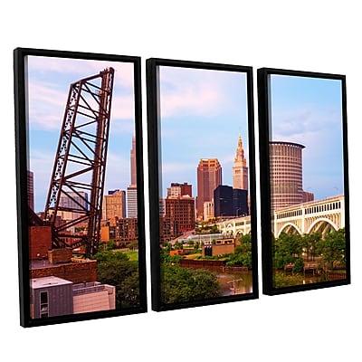 ArtWall 'Cleveland 10' 3-Piece Canvas Set 36