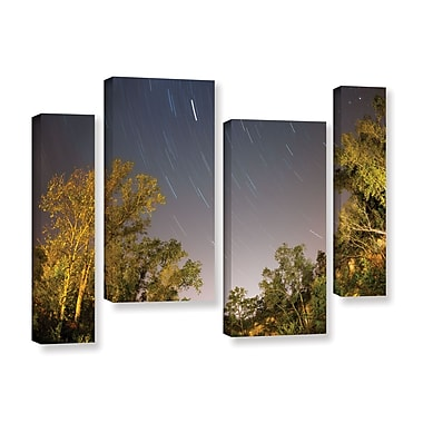 ArtWall 'Star Trails' 4-Piece Gallery-Wrapped Canvas Staggered Set 36