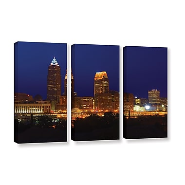 ArtWall 'Cleveland 15' 3-Piece Gallery-Wrapped Canvas Set 36
