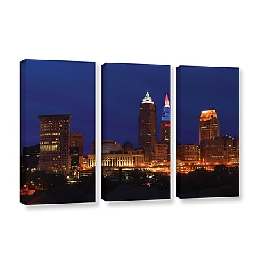ArtWall 'Cleveland 5' 3-Piece Gallery-Wrapped Canvas Set 36