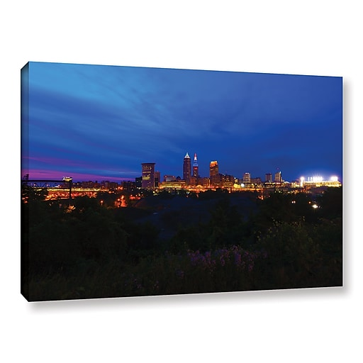 """ArtWall 'Cleveland 3' Gallery-Wrapped Canvas 16"""" x 24"""" (0yor016a1624w)"""