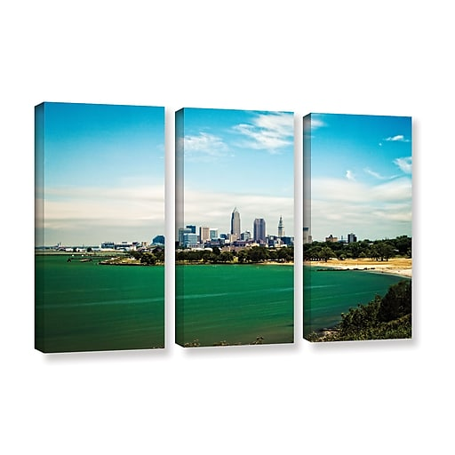 "ArtWall 'Cleveland 22' 3-Piece Gallery-Wrapped Canvas Set 36"" x 54"" (0yor035c3654w)"