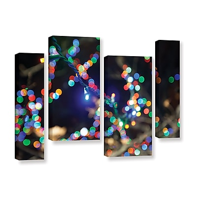 ArtWall 'Bokeh 3' 4-Piece Gallery-Wrapped Canvas Staggered Set 36