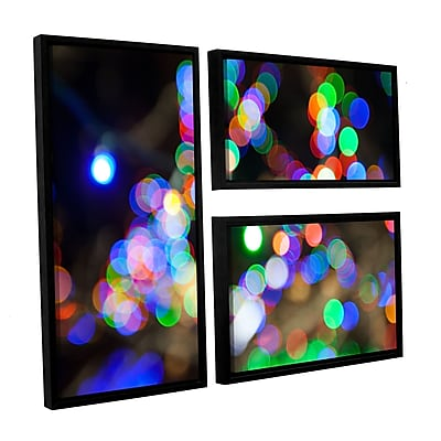 ArtWall 'Bokeh 2' 3-Piece Canvas Flag Set 24