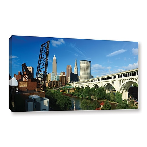 "ArtWall 'Cleveland 11' Gallery-Wrapped Canvas 12"" x 24"" (0yor024a1224w)"