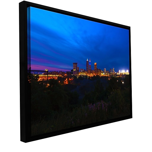 """Artwall 'Cleveland 3' Gallery-Wrapped Canvas 12"""" x 18"""" Floater-Framed (0yor016a1218f)"""