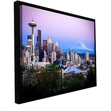 ArtWall 'Seattle And Mt Rainier 2' Gallery-Wrapped Canvas 24