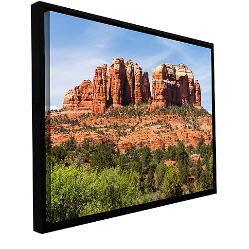 "ArtWall 'Sedona 2' Gallery-Wrapped Canvas 12"" x 18"" Floater-Framed (0yor054a1218f)"