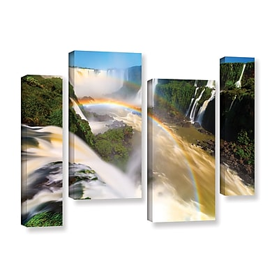 ArtWall 'Iguassu Falls 2' 4-Piece Gallery-Wrapped Canvas Staggered Set 24