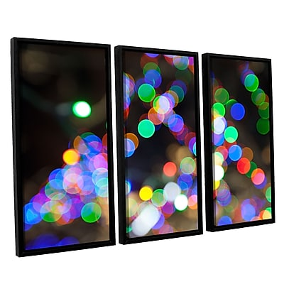 ArtWall 'Bokeh 1' 3-Piece Canvas Set 36