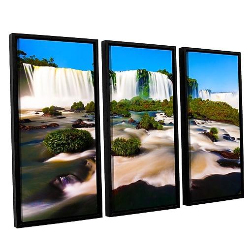 """ArtWall 'Brazil 2' 3-Piece Canvas Set 36"""" x 54"""" Floater-Framed (0yor010c3654f)"""