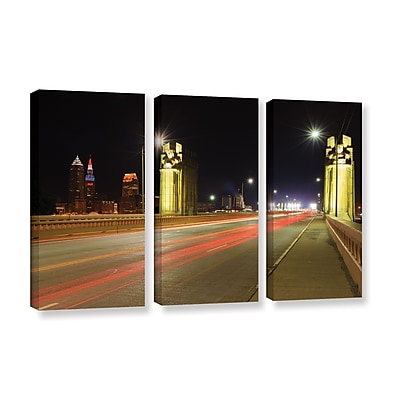 ArtWall 'Cleveland 7' 3-Piece Gallery-Wrapped Canvas Set 36