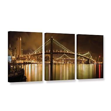 ArtWall 'Brooklyn Bridge' 3-Piece Gallery-Wrapped Canvas Set 18