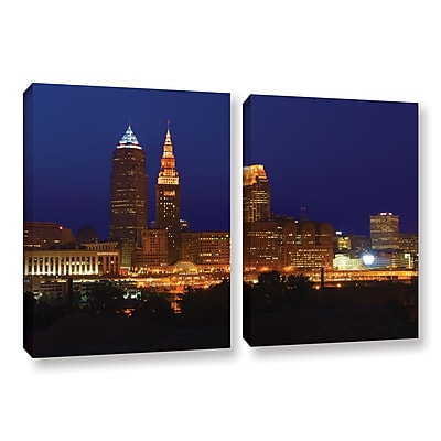 ArtWall 'Cleveland 15' 2-Piece Gallery-Wrapped Canvas Set 32
