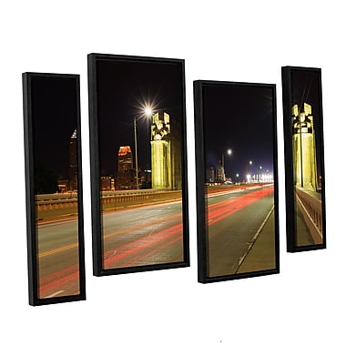 ArtWall 'Cleveland 7' 4-Piece Canvas Staggered Set 36