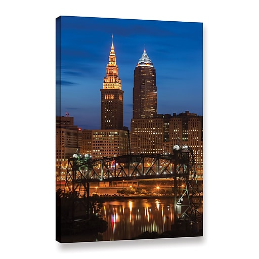 """ArtWall """"Cleveland 14"""" Gallery-Wrapped Canvas 32"""" x 48"""" (0yor027a3248w)"""