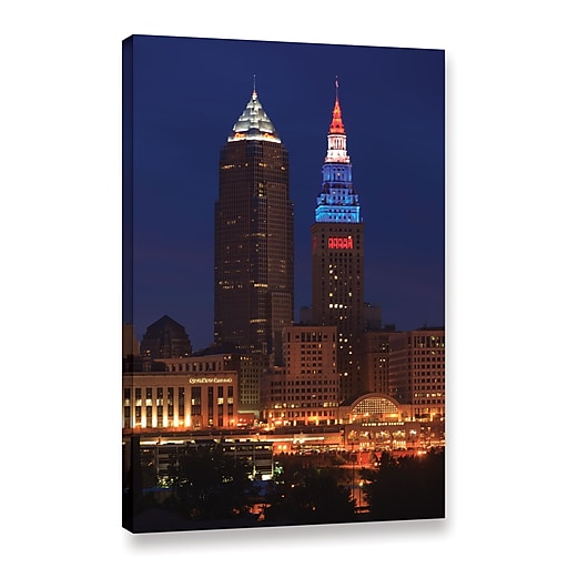 "ArtWall 'Cleveland 4' Gallery-Wrapped Canvas 24"" x 36"" (0yor017a2436w)"